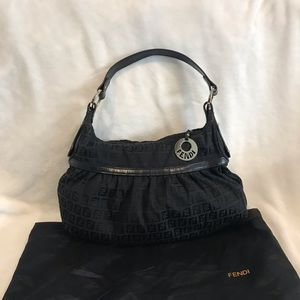 Fendi Zucca Chef Bag Black